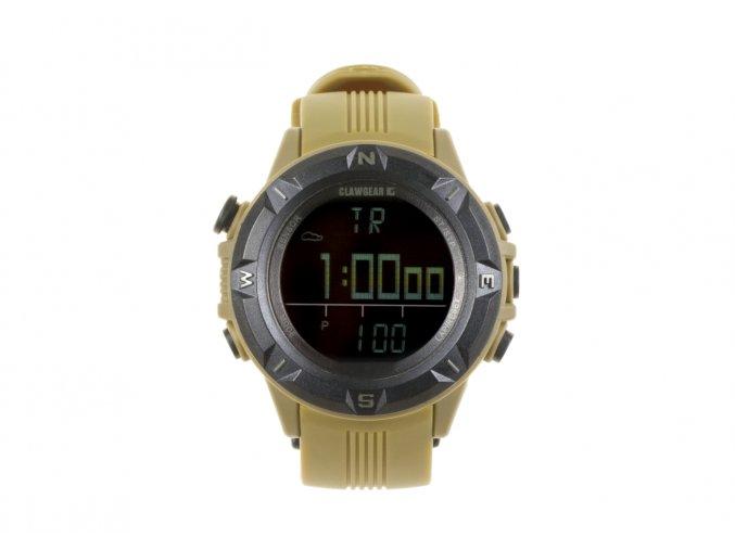Multifunkční hodinky CLAWGEAR Mission Sensor II - Tan