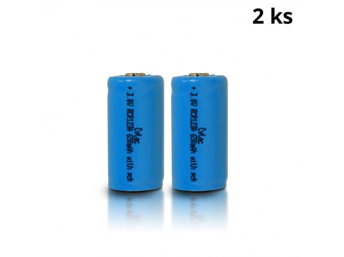 Dobíjecí baterie CYTAC RCR123A 3,0V 650 mAh - 2ks