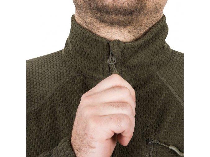 Fleecová bunda HELIKON - ALPHA TACTICAL Grid Fleece - Black