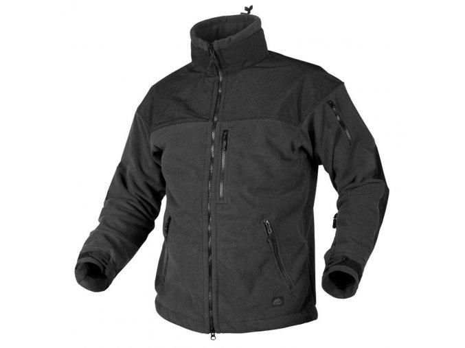 Fleecová bunda s membránou HELIKON - CLASSIC ARMY Fleece Jacket WINDBLOCKER - Black