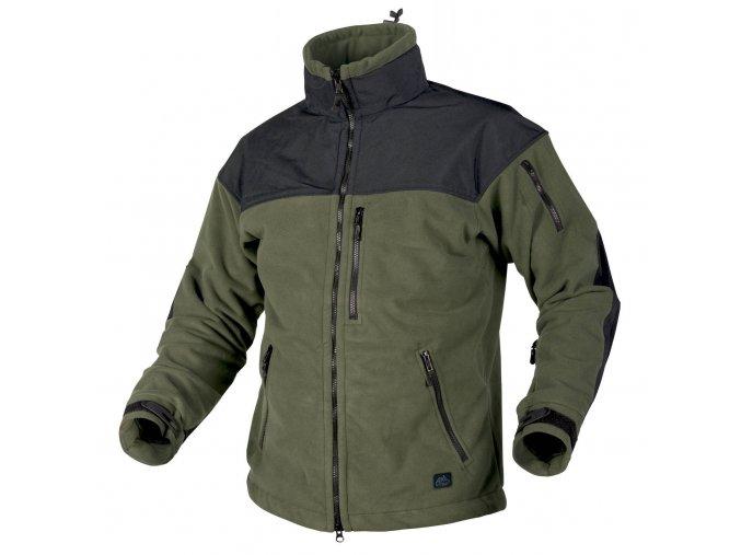 Fleecová bunda s membránou HELIKON - CLASSIC ARMY Fleece Jacket WINDBLOCKER - Olive Drab / Black