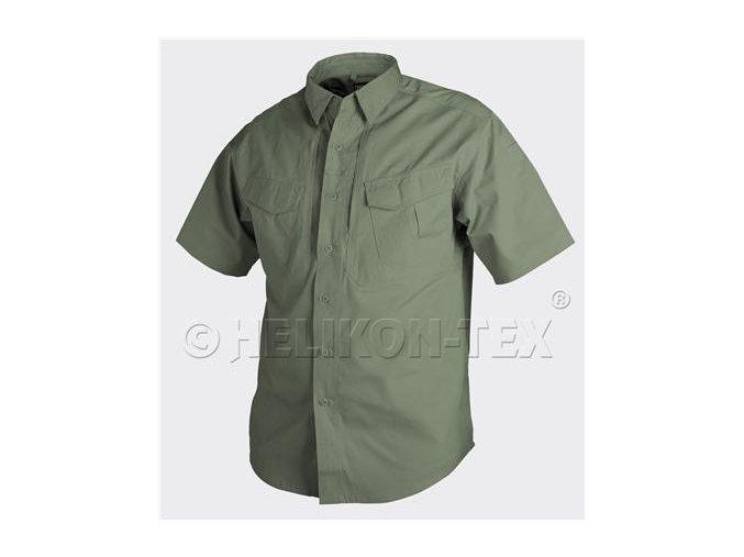 Košile s krátkým rukávem HELIKON - DEFENDER SHIRT - Olive Drab