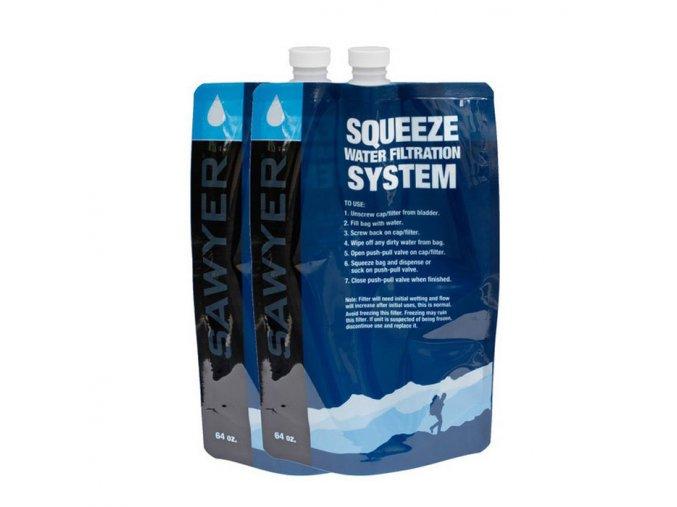 Srolovatelná láhev SAWYER 2L Squeezable Pouch - sada 2 ks