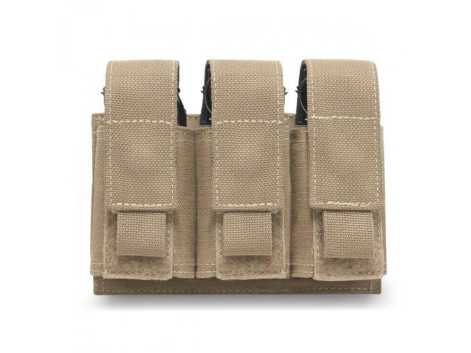 Sumka na tři granáty nebo dýmovnice WARRIOR ASSAULT SYSTEMS Triple 40mm Grenade - Coyote Tan