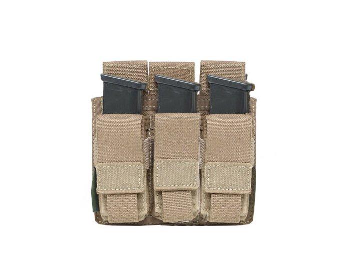 Sumka na zásobníky Warrior Assault Systems Direct Action Triple DA 9mm Pistol Pouch - Coyote Tan