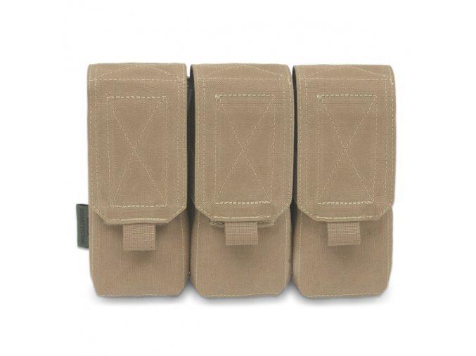 Trojitá sumka na 6 zásobníků WARRIOR ASSAULT SYSTEMS Triple M4 5.56mm - Coyote Tan