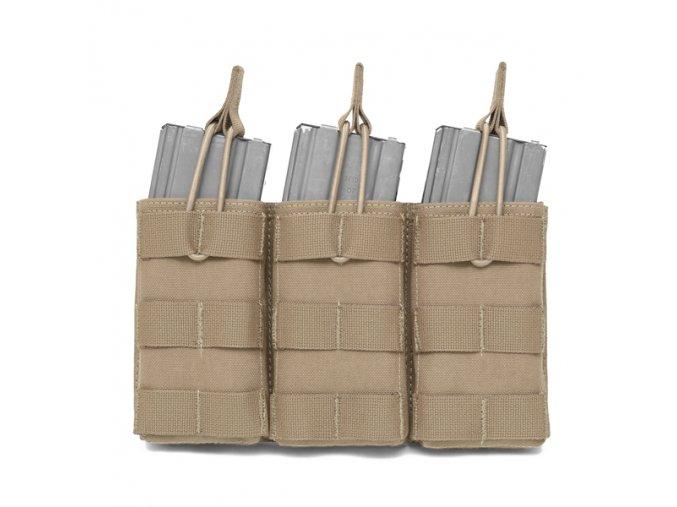 Otevřená sumka na tři zásobníky WARRIOR ASSAULT SYSTEMS Triple MOLLE Open Puch 5.56mm - Coyote Tan