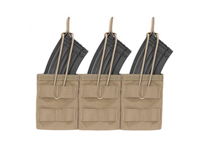 Otevřená sumka na tři zásobníky WARRIOR ASSAULT SYSTEMS Triple MOLLE Open AK 7.62mm - Coyote Tan