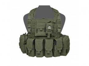 Hrudní nosič WARRIOR ASSAULT SYSTEMS 901 Elite Ops M4 Bravo Chest Rig - Olive Drab