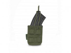 Otevřená sumka na zásobník WARRIOR ASSAULT SYSTEMS Single MOLLE Open AK 7.62mm - Olive Drab