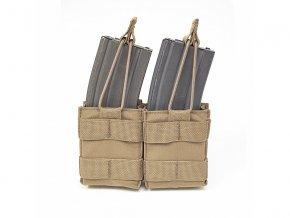 Samosvorná sumka na zásobníky WARRIOR ASSAULT SYSTEMS Double Snap Mag Pouch 5.56mm - Coyote Tan