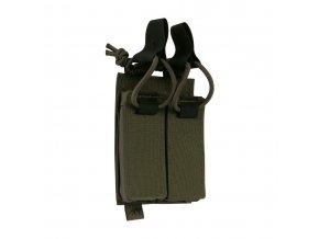 Otevřená velcro sumka na pistolové zásobníky TASMANIAN TIGER DBL Pistol Mag Pouch BEL VL