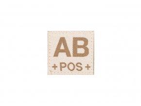 Nášivka krevní skupina CLAWGEAR Blood Patch AB Pos