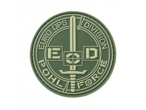 Nášivka POHL FORCE 3D Rubber Patch EOD Gen2