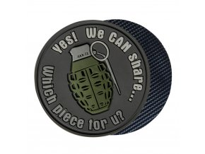 "Gumová nášivka HELIKON ""We can share"" Grenade Rubber Patch"