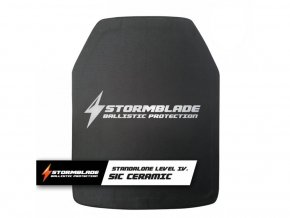 Kompozitní keramický balistický plát STORMBLADE level IV. STANDALONE (SiC)