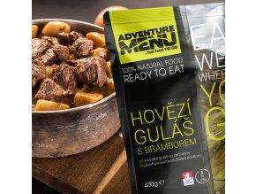 Hotové jídlo ADVENTURE MENU Hovězí guláš s bramborem
