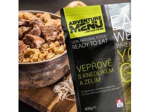 Hotové jídlo ADVENTURE MENU Vepřové s knedlíkem a zelím