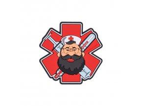 """Gumová nášivka HELIKON """"Beardman Medic"""" Rubber Patch"""