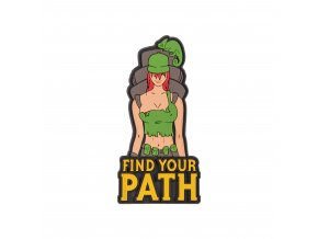 "Gumová nášivka HELIKON ""Find Your Path"" Rubber Patch"