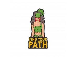 """Gumová nášivka HELIKON """"Find Your Path"""" Rubber Patch"""