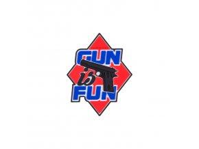 """Gumová nášivka HELIKON """"Gun Is Fun"""" Rubber Patch"""