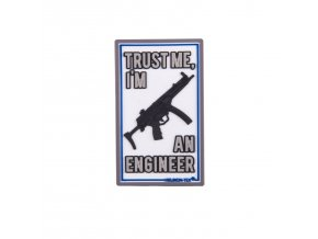 "Gumová nášivka HELIKON ""Trust Me, I'm Engineer"" Rubber Patch"