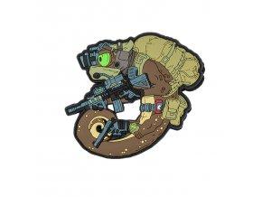 """Gumová nášivka HELIKON """"Chameleon Operator"""" Rubber Patch"""