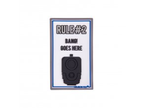 "Gumová nášivka HELIKON ""Rule#2"" Rubber Patch"