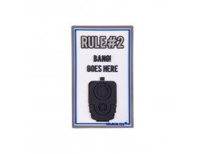 """Gumová nášivka HELIKON """"Rule#2"""" Rubber Patch"""