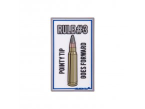 "Gumová nášivka HELIKON ""Rule#3"" Rubber Patch"