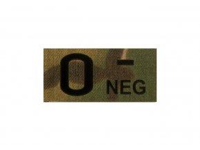 IR nášivka krevní skupina CLAWGEAR 0 Neg IR Patch