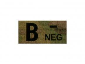 IR nášivka krevní skupina CLAWGEAR B Neg IR Patch