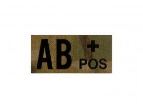 IR nášivka krevní skupina CLAWGEAR AB Pos IR Patch
