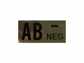 IR nášivka krevní skupina CLAWGEAR AB Neg IR Patch