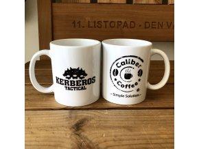 Hrnek CALIBER COFFEE® / KERBEROS TACTICAL - White