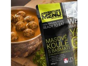 Hotové jídlo ADVENTURE MENU Masové koule s basmati a rajskou omáčkou