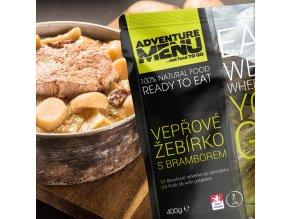 Hotové jídlo ADVENTURE MENU Vepřové žebírko s bramborem