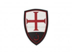 Gumová velcro nášivka JTG Crusader Shield