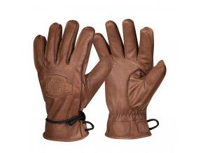 Zimní kožené bushcraft rukavice HELIKON Ranger Winter