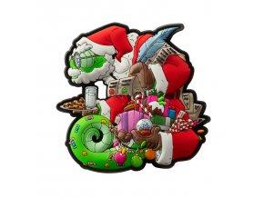 """Gumová nášivka HELIKON """"Chameleon Christmas"""" Rubber Patch"""