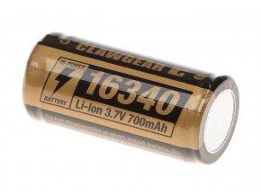 Dobíjecí baterie CLAWGEAR 16340 (CR123) 3,7V 700 mAh
