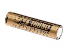Dobíjecí USB baterie CLAWGEAR 18650 3,7V 2600 mAh