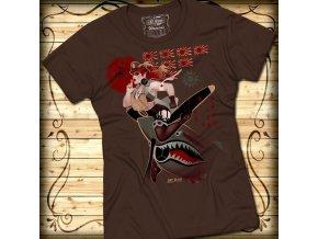Dámské tričko 7.62 DESIGN - FLYING TIGER - Hnědá