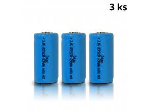 Dobíjecí baterie CYTAC RCR123A 3,0V 650 mAh - 3ks