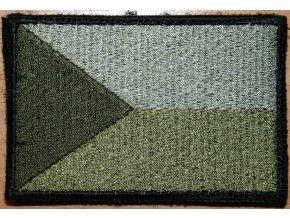 Velcro nášivka vlajka ČR - Olive