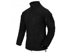 Fleecová bunda HELIKON - ALPHA Grid Fleece - Black