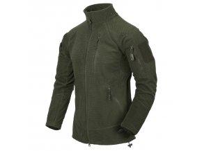 Fleecová bunda HELIKON - ALPHA Grid Fleece - Olive Drab