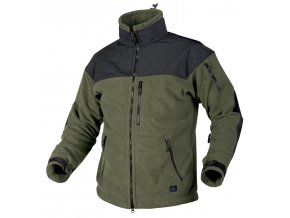 Fleecová bunda s membránou HELIKON - CLASSIC ARMY Fleece Jacket WINDBLOCKER - Olive Drab / Black