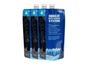 Srolovatelná láhev SAWYER 1L Squeezable Pouch - sada 3 ks